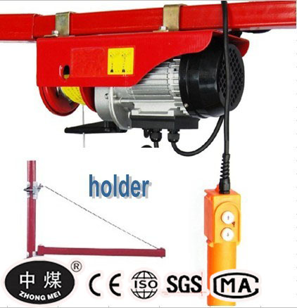 cable hoist with holders