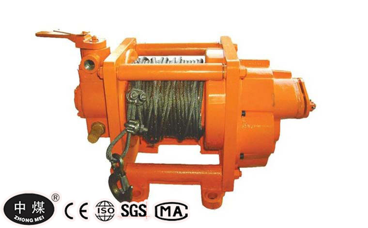 JQHS-50* 12 Air Tugger Winch for Coal Linings with Disc Brake