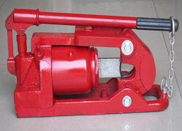 Hydraulic wire rope cable cutter