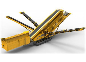 Crawler mobile jaw broken machine and tracked mobile screening machine