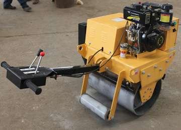 Manual Vibratory Single Drum Roller Compactor Machine