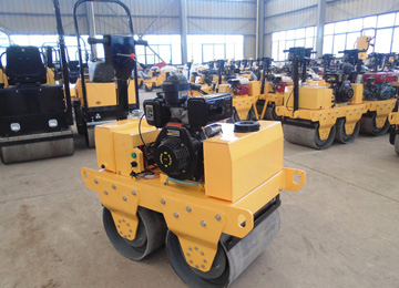 Vibrating Double Drum Portable Road Roller Compactor