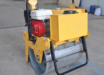 walk behind 5.5HP single drum vibration road roller