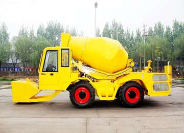 2 CBM Self Loading Mobile Cement Mixing Truck