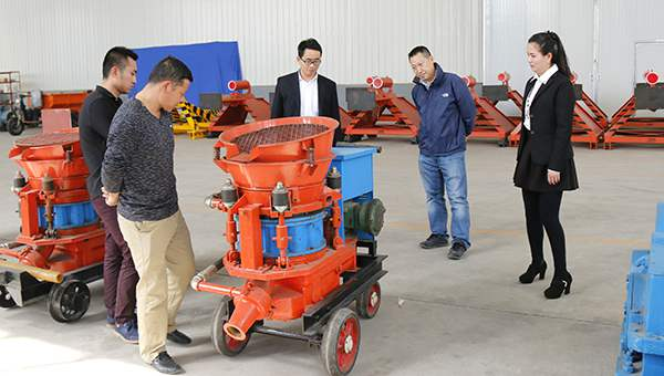 Warmly Welcome Merchants from Jinan to Visit China Coal Group for Purchasing Shotcrete Machine