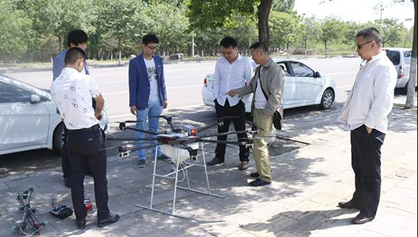 Warmly Welcome Heilongjiang Merchants to Visited China Coal Group for Purchasing Crop Sprayer UAV