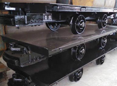 Flat Rail Mine Car