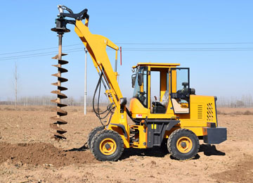 Excavator Mounted Earth Auger Drill Pole Hole Digging Machine