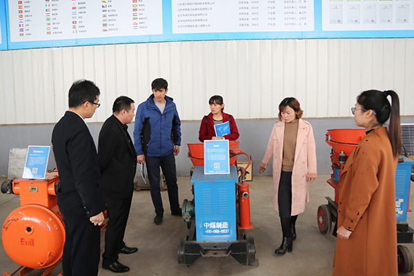 Warmly Welcome Tajikistan Merchant To Visit China Coal Group For Purchasing Shotcrete Machines And Other Mining Equipment