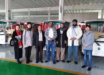 Warmly Welcome Saudi Arabian Merchants To China Coal Group Joint Manufacturing Company for Golf Cart
