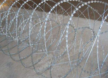 Galvanized Razor Blade Wire Fence
