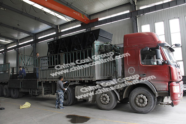 China Coal Group Sent A Batch Of New Tipping Mine Car To Gansu Province