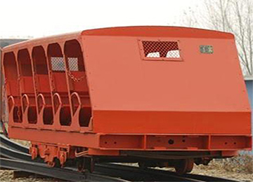 XRC8 Underground Mining Inserted Rail Type Inclined Shaft Man Car