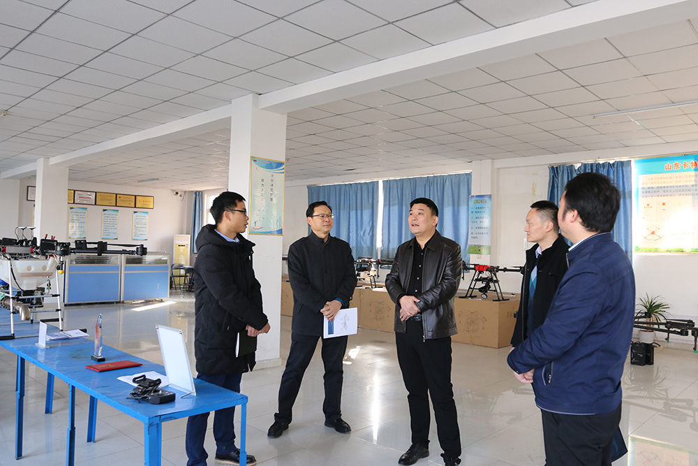 Warmly Welcome The Leaders Of Jining Technological Education Group To Visit Shandong Tiandun