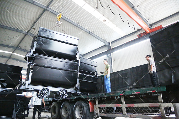 China Coal Group Sent A Batch Of Mining Bucket Tipping Cars And Mining Material Cars To Jincheng, Shanxi