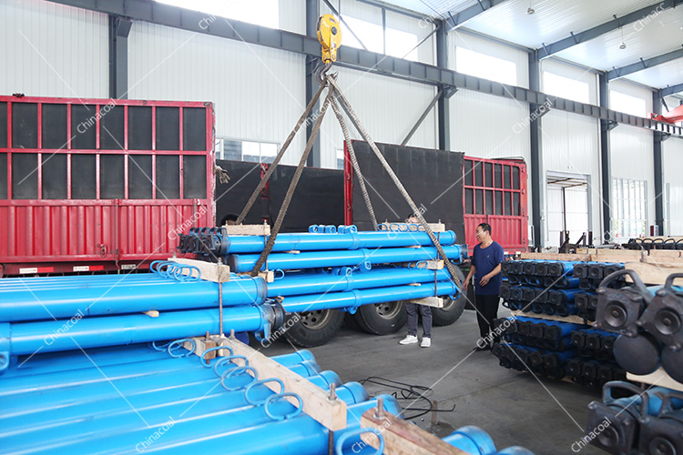 China Coal Group Send A Batch Of Mining Single Hydraulic Props To Two Major Mines In Shanxi