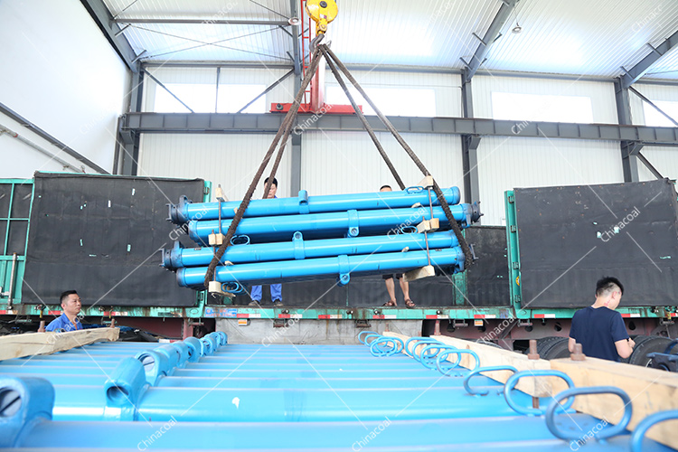 China Coal Group Send A Batch Of Mining Single Hydraulic Props To Shouyang, Shanxi Province