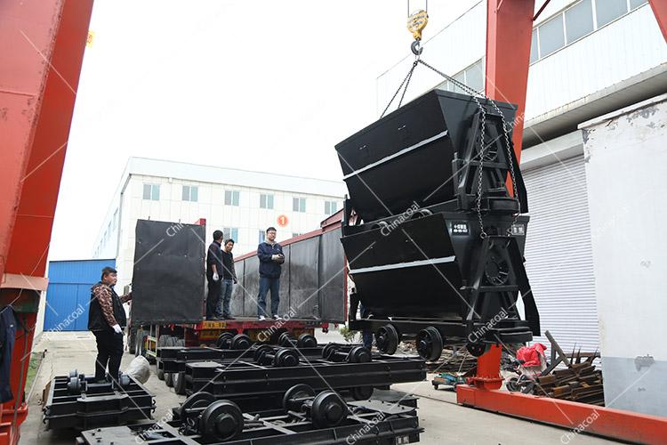 China Coal Group Sent A Batch Of Dump Mine Car And Flatbed Mine Car To Yan'An, Shaanxi