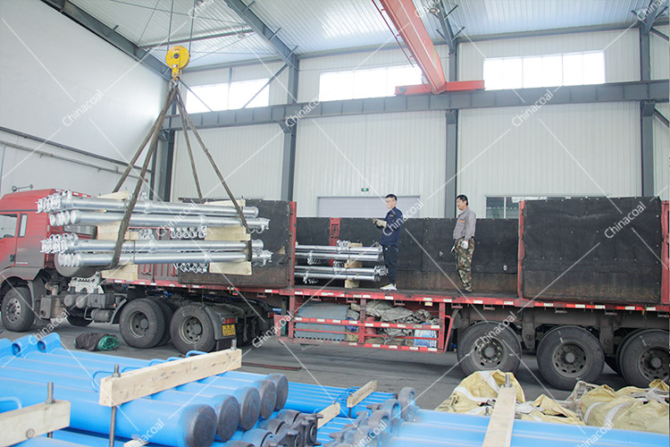 Shipped! China Coal Group Sent A Batch Of Mining Single Hydraulic Props To Shanxi