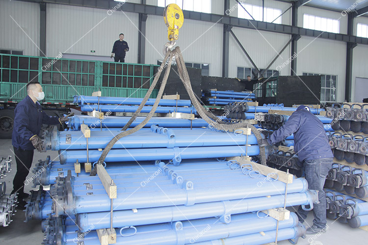 China Coal Group Sent A Batch Of Suspended Single Hydraulic Props To Datong, Shanxi Again
