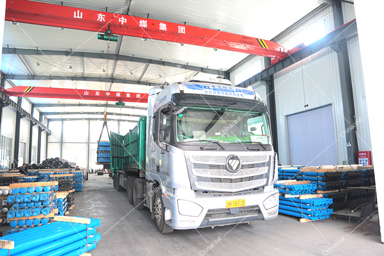 China Coal Group Sent A Batch Of Suspended Mining Single Hydraulic Props To Luliang, Shanxi