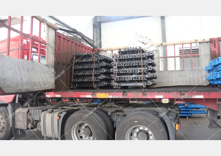 China Coal Group Sent A Batch Of Hydraulic Props And Metal Roof Beams To Yulin, Shaanxi