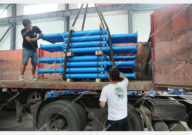 China Coal Group Sent A Batch Of Mining Single Hydraulic Props To Luliang, Shanxi