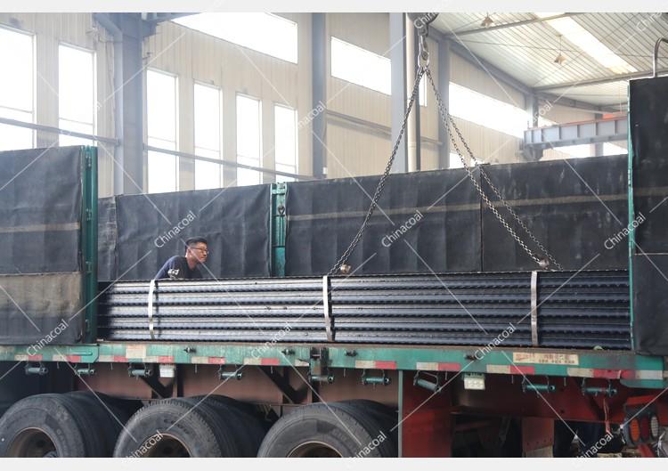 China Coal Group Sent A Batch Of Metal Roof Beams To Luliang, Shanxi