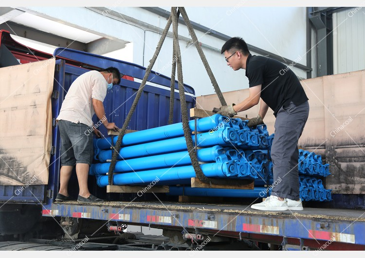 China Coal Group'S Two Trucks Of Single Hydraulic Props Were Sent To Luliang, Shanxi
