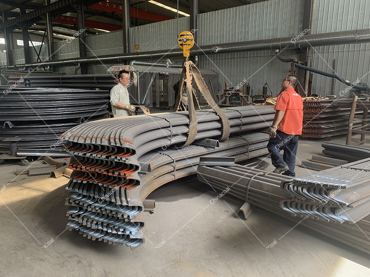 China Coal Group Export A Batch Of U-Shaped Steel Supports To Tanzania