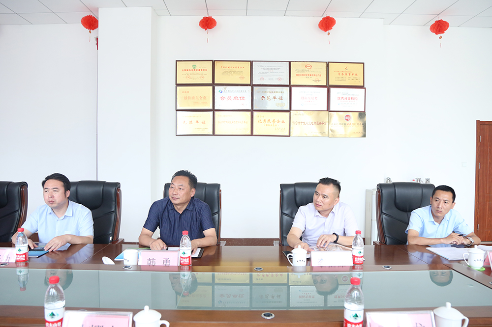 Warm Welcome Shandong Mingda Industrial Group Leaders Visit China Coal Group Inspection Cooperation