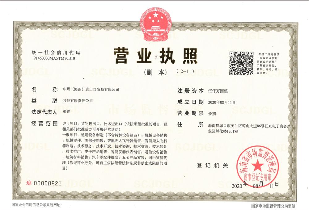 Congratulations On The Establishment Of China Coal (Hainan) Import And Export Trade Co., Ltd