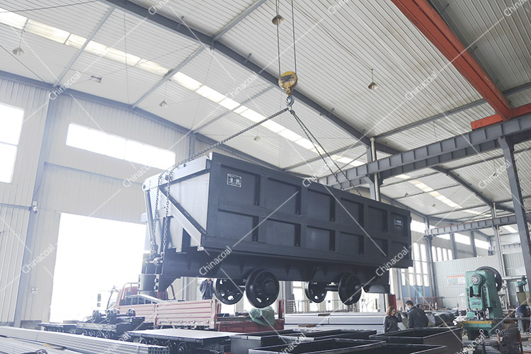 China Coal Group Sent A Batch Of Curved Rail Side Dump Mine Car To Yunnan