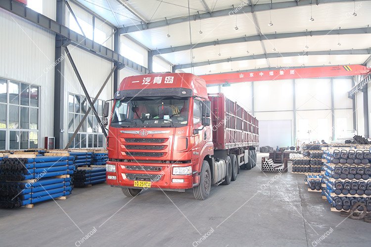 China Coal Group Sent A Batch Of Suspended Mining Single Hydraulic Props To Shanxi