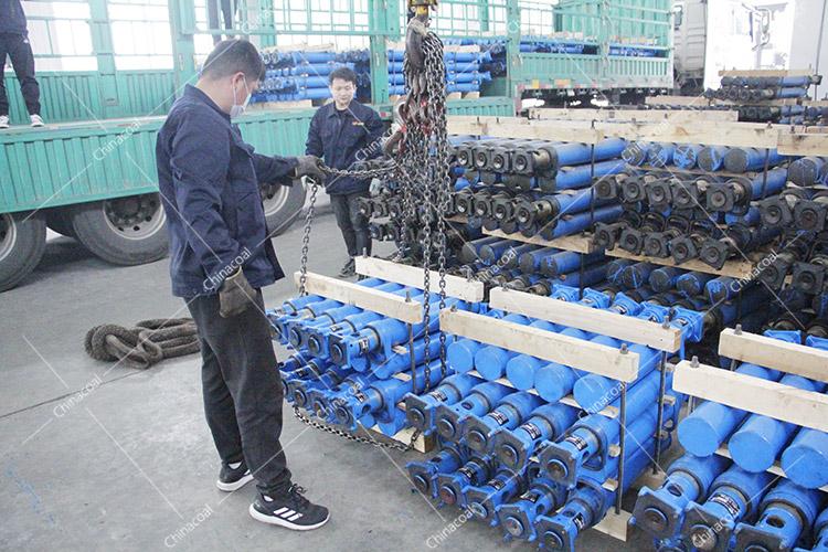 China Coal Group Sent 800 Suspension Single Hydraulic Props To Yunnan