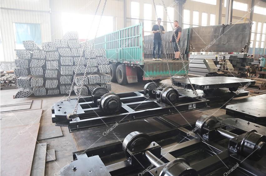 China Coal Group Sent A Batch Of Mining Flat Rail Wagon To Jincheng, Shanxi