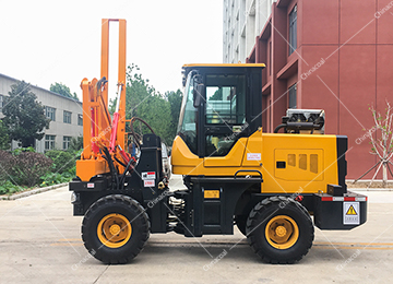 Wheeled Type Spiral Pile Driver