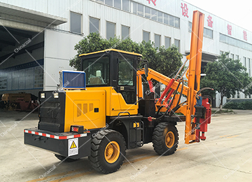 360 Degree Wheel Type Hydraulic Rotary Drilling Rig
