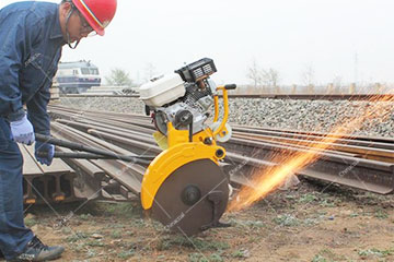 Gas Engine Abrasive Rail Cutting Machine