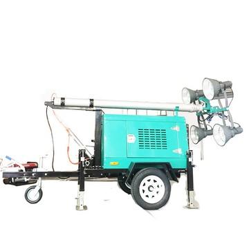 Mobile Diesel Engine Generator Lights Tower
