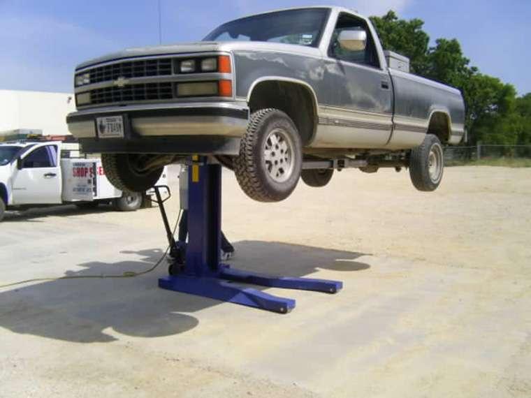 Single Hydraulic Automotive Lifts : Hydraulic single post underground car lift